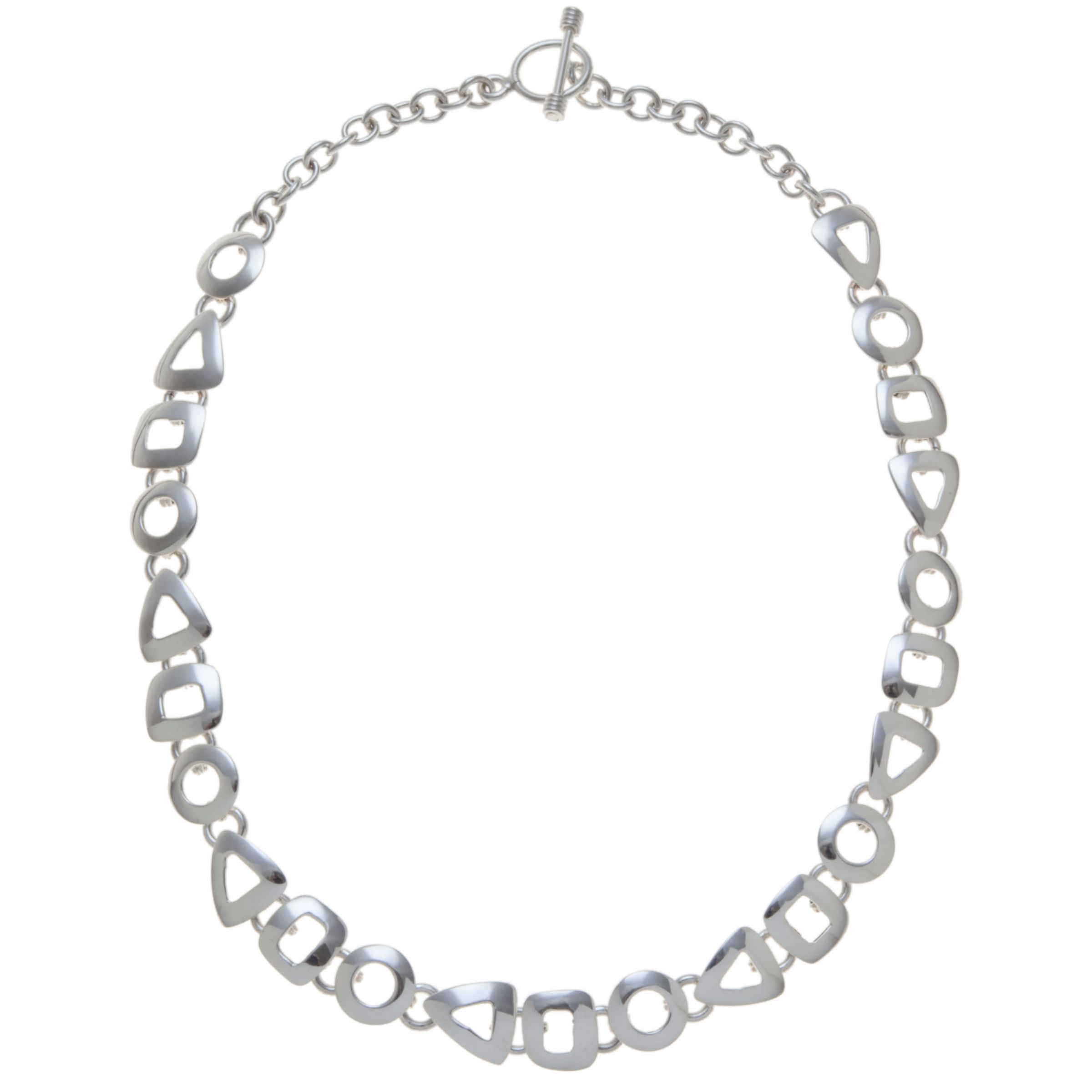Andea Andea Sterling Silver Assorted Cut Out Necklace