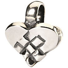 Buy Trollbeads Christmas Heart Bead, Silver Online at johnlewis.com