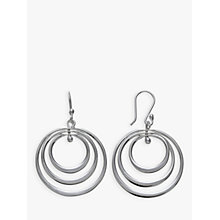 Buy Andea Sterling Silver Spinning Hoop Drop Earrings, Silver Online at johnlewis.com