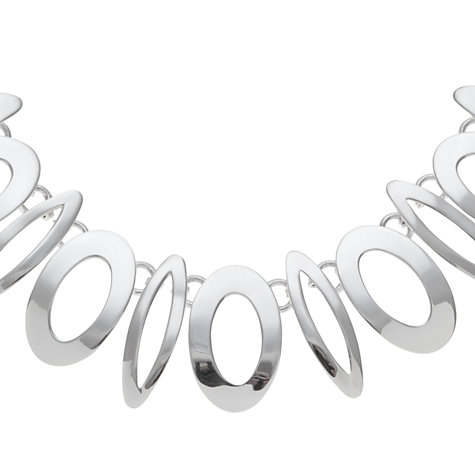 Buy Andea Sterling Silver Art Deco Statement Necklace Online at johnlewis.com
