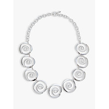 Buy Andea Sterling Silver Sculptured Spirals Necklace Online at johnlewis.com