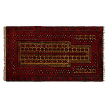 Buy John Lewis Ballouch Afghan Rug, L145 x W90cm, Red Online at johnlewis.com