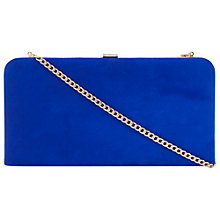 Buy Dune Emmies Suede Box Clutch Bag, Blue Online at johnlewis.com