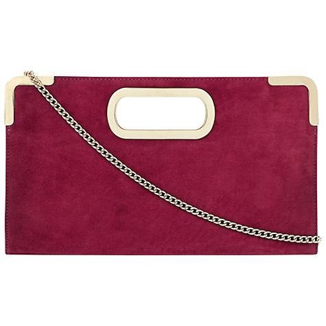 Buy Dune Evies Suede Metal Trim Clutch Bag Online at johnlewis.com