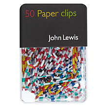 Buy John Lewis Striped Paper Clips, Multi, Pack Of 50 Online at johnlewis.com