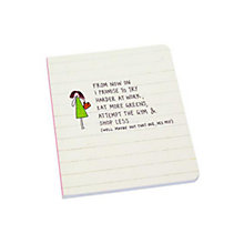 Buy Jakkie Doodles Promise Notebook, White Online at johnlewis.com