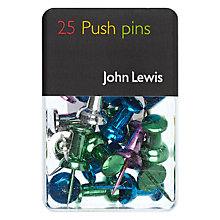 Buy John Lewis Push Pins, Assorted, Pack Of 25 Online at johnlewis.com