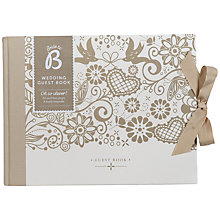 Buy Busy B Wedding Guest Book, Multi Online at johnlewis.com