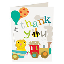 Buy Caroline Gardner Animals Thank You Notecards, Multi, Pack Of 10 Online at johnlewis.com