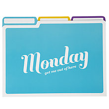 Buy Knock Knock Days of Week File Folders, Pack of 6 Online at johnlewis.com