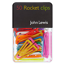 Buy John Lewis Coloured Clips, Multi Online at johnlewis.com
