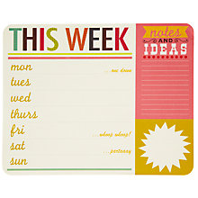 Buy Caroline Gardener Say So Weekly Planner, Multi Online at johnlewis.com