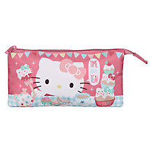 Buy Hello Kitty Tea Party  3 Pocket Pencil Case, Multi Online at johnlewis.com