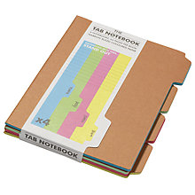 Buy Suck UK Tab Notebooks, Brown, Set Of 4 Online at johnlewis.com
