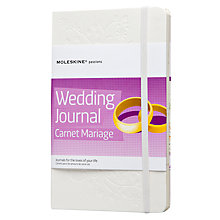 Buy Moleskine Wedding Journal, White Online at johnlewis.com