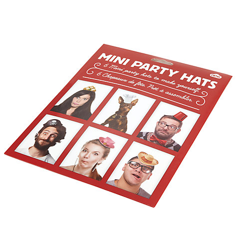 Buy Natural Products Party Hats, Multi, Set Of 6 Online at johnlewis.com