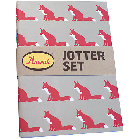 Buy Anorak A5 Jotters, Multi, Pack Of 3 Online at johnlewis.com
