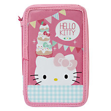Buy Hello Kitty Tea Party Double Tier Pencil Case, Multi Online at johnlewis.com