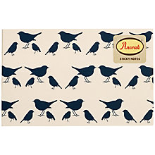 Buy Anorak Bird Sticky Notes, Blue/White Online at johnlewis.com