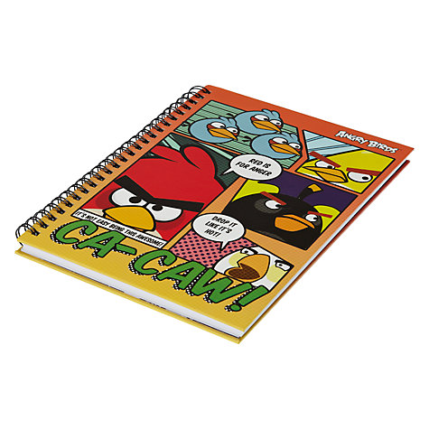 Buy Angry Birds A5 Hardback Notebook, Multi Online at johnlewis.com