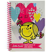 Buy Mr Men Little Miss A5 Notebook, Multi Online at johnlewis.com