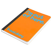 Buy Waldo Pancake Travel Diary, Orange Online at johnlewis.com
