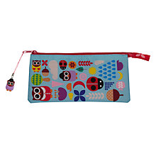 Buy Give A Hoot 3 Pocket Pencil Case, Multi Online at johnlewis.com
