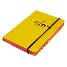 Buy Happy Jackson A6 Notebook, Yellow Online at johnlewis.com