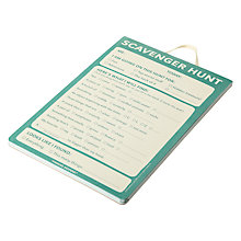 Buy Knock Knock Scavenger Hunt Pad, Multi Online at johnlewis.com