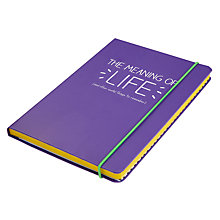 Buy Happy Jackson A5 Notebook, Purple Online at johnlewis.com