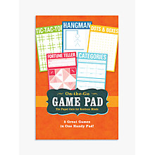Buy Knock Knock On The Go Game Pad, Multi Online at johnlewis.com