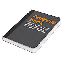 Buy Waldo Pancake Address Book, Black Online at johnlewis.com
