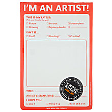 Buy Knock Knock I'm An Artist Pad, Multi Online at johnlewis.com
