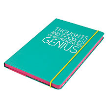 Buy Happy Jackson A5 Thoughts Notebook, Green Online at johnlewis.com