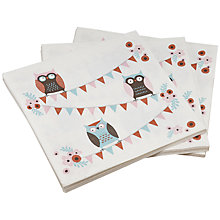 Buy Ginger Ray Patchwork Owl Napkins, Multi, Pack Of 20 Online at johnlewis.com