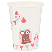 Buy Ginger Ray Patchwork Owl Cups, Multi, Pack Of 8 Online at johnlewis.com