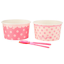 Buy Talking Tables Pink 'N' Mix Treat Bowl, Pink, Set Of 8 Online at johnlewis.com