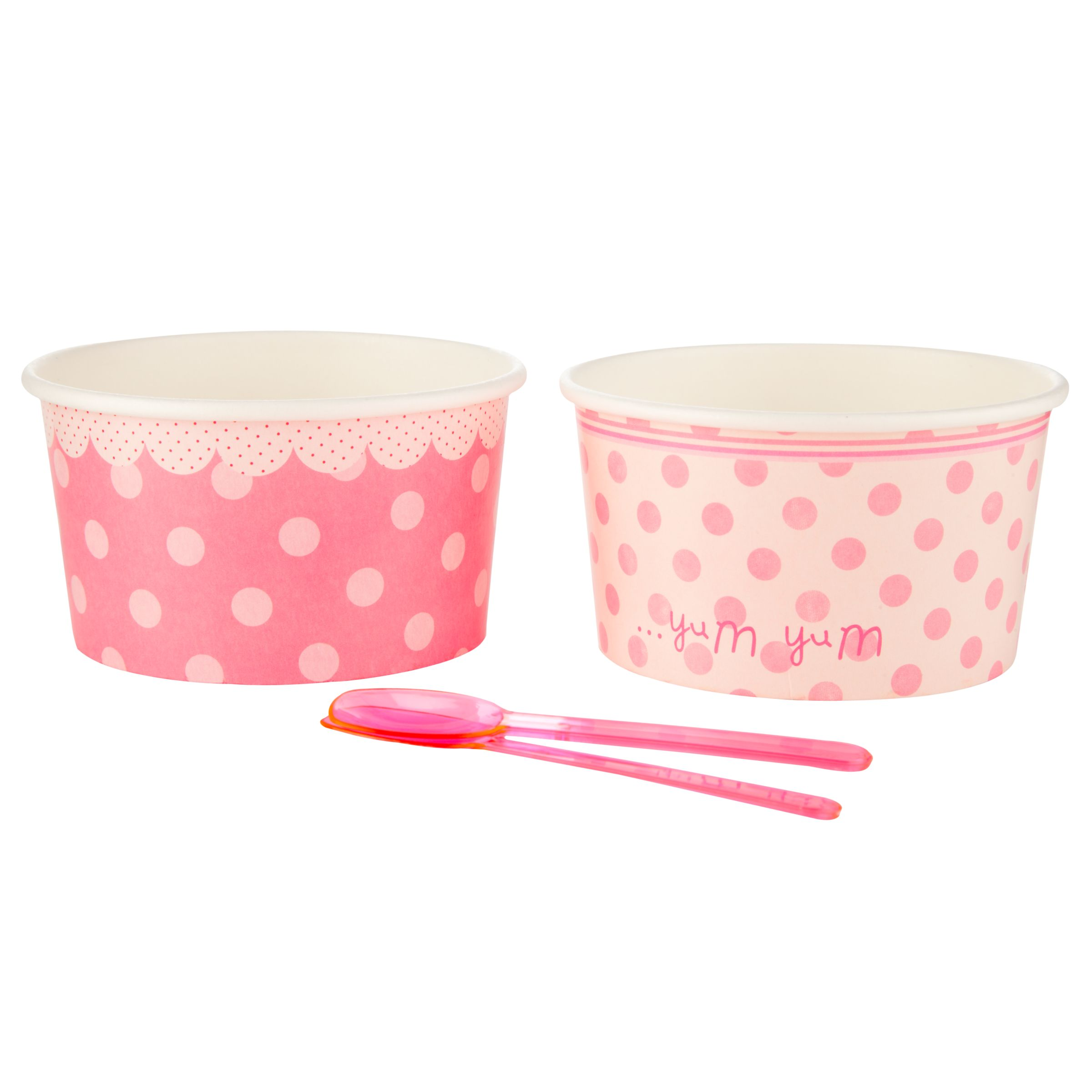 Talking Tables Pink 'N' Mix Treat Bowl, Pink, Set Of 8