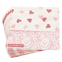 Buy Emma Bridgewater Heart And Roses Lunch Napkin, Pink, Pack Of 20 Online at johnlewis.com