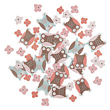 Buy Ginger Ray Patchwork Owl Table Confetti, Multi Online at johnlewis.com
