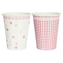 Buy Talking Tables Pink 'N' Mix Cups, Pink, Pack Of 8 Online at johnlewis.com