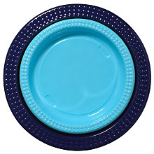 Buy Duni Plastic Plates, Blue, Pack Of 20 Online at johnlewis.com
