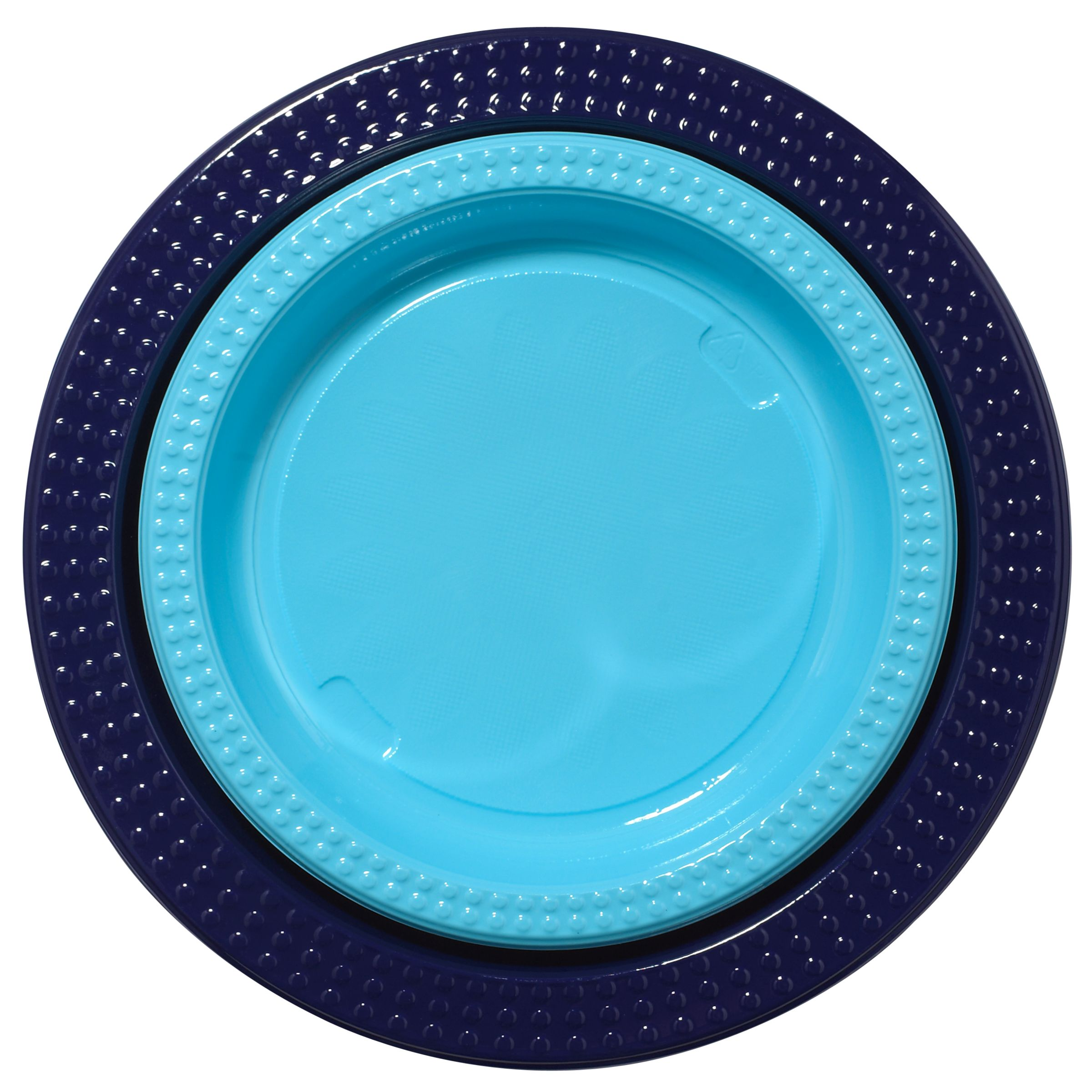 Duni Plastic Plates, Blue, Pack Of 20