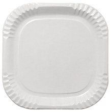 Buy Duni Square Plates, White, Pack Of 20 Online at johnlewis.com
