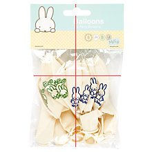 Buy Miffy Balloons, Multi, Pack Of 8 Online at johnlewis.com