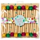 Talking Tables Floral Fiesta Pom Pom Toothpicks, Multi, Pack Of 18
