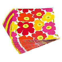 Buy Marimekko Mini Flower Lunch Napkin, Multi, Pack Of 20 Online at johnlewis.com