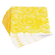 Buy Marimekko Flower Lunch Napkins, Yellow, Pack Of 20 Online at johnlewis.com