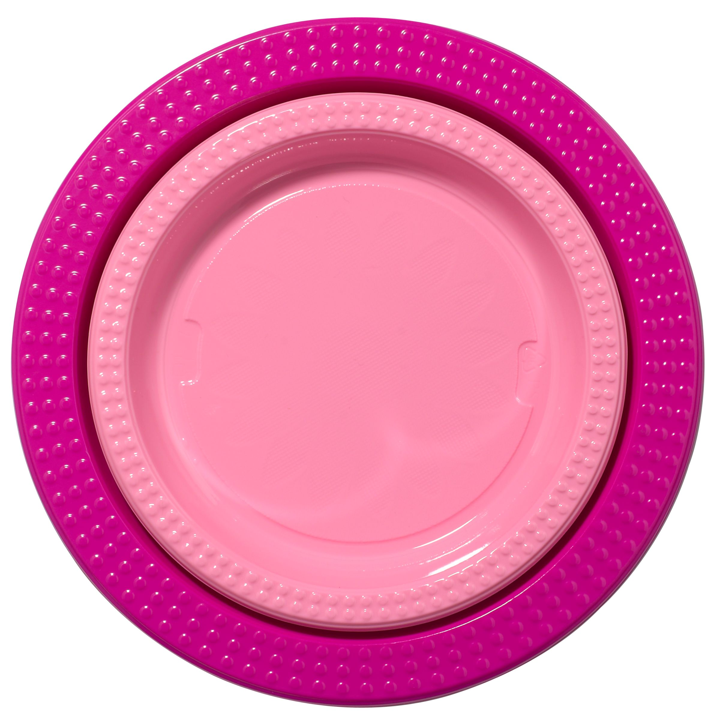 Duni Plastic Plates, Blue, Pack Of 20, Pink
