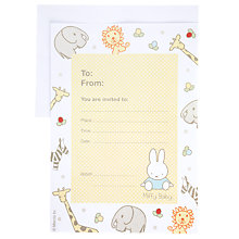 Buy Miffy Invites, Multi, Pack Of 10 Online at johnlewis.com